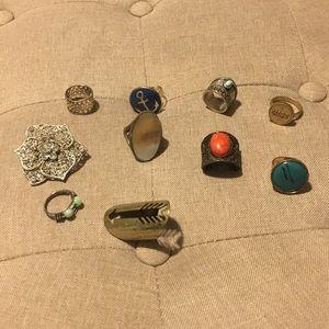 Lot of 10 vintage rings
